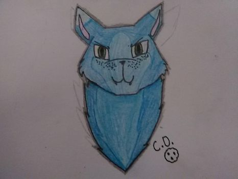 Daily Doodles #3: Cat head by cookiedragon202