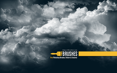 Cloud brushes for Photoshop by freebiespsd