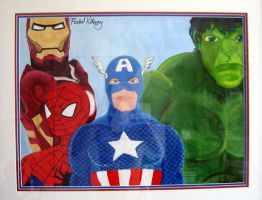 My Marvel Painting by Rachel-Perciphone