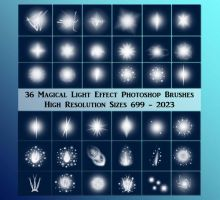 Magic Light Effect Brushes Exclusive Stock by CelticStrm-Stock