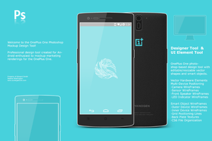 OnePlus One Android Mockup and Concept Tool by synergeticink
