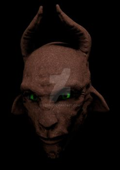 texture experiments on my goatface by yzorg