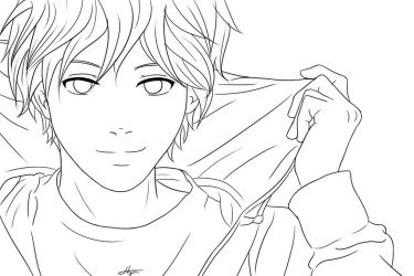 Lineart Boy by Sofyarts