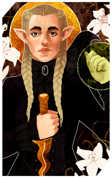 Commission: Lavellan tarot by RedlyJester