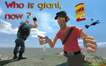 Who is giant now ? (2010) by WeegeetnikArt