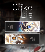 The Cake is a Lie Walltag by MrSpring