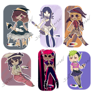 { SPECIAL AUCTION: TINY WITCHES }[3 LEFT] by SweetMacaronAdopts