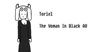 The woman in black- Toriel by Nightmarecake4268