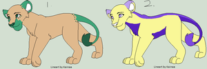 Lionesses for adoption closed by akeena7