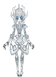 Magerna inspired character by megaZer047