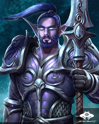 ...Commission: Night Elf Warrior... by ShadowPriest