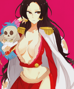 one piece: i'd hand her cock by Kite-Mitiko