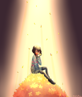 Rain of golden flowers by Blooding424