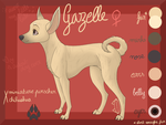 Gazelle (reference sheet) by Perle-de-Suie