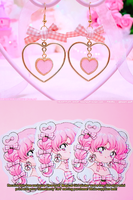 Strawberry Tart Earrings by Pikiru