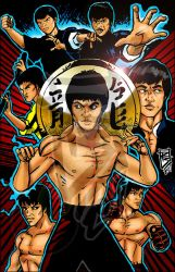 Bruce Lee tribute by BigRob1031