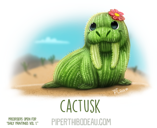 Daily Paint 1636. Cactusk by Cryptid-Creations