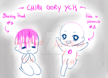_Chibi Gory YCH: OPEN_ by RobicTheEscapist