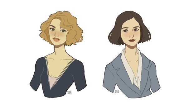 Goldstein sisters by katriadraws
