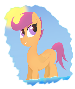 Beach Scootaloo Test by TheOtherDash
