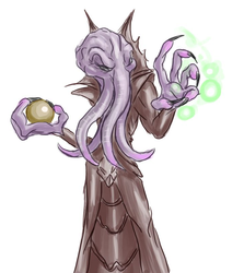 Illithid with a body by Morgoth883