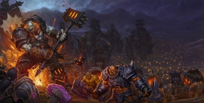 World of Warcraft Warlords of Draenor Box Art by GlennRaneArt