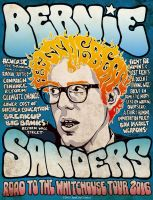 Bernie Sanders - Road To The Whitehouse Tour 2016 by JamCityComics