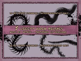 Creepy Worm Brushes by nathies-stock