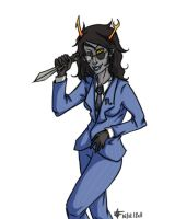 Vriska as Spy by azzash