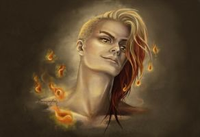 Fyrron - Fire Elemental by barananduen
