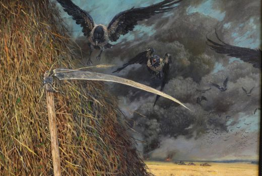details of the triptych Do the Russians Want War? by Vladimir-Kireev