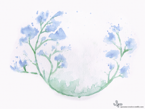 Watercolour Trees by Azrelae