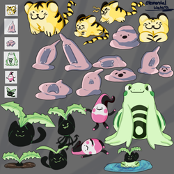 Pokemon Silver And Gold Beta Doodles by ElementalWatera