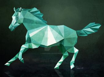Low Poly Horse by SabrinaDeets