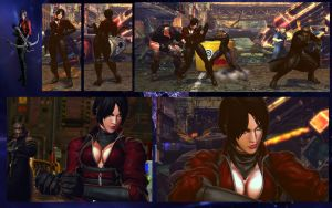 SF X TEKKEN Nina as Ada Wong from RE 6 by monkeygigabuster