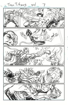 Teen Titans 07 Pencil by Hominids