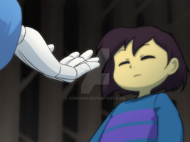 [Undertale] Meeting new pal by uzikowa
