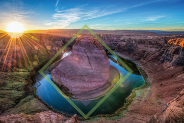 Sunset at Horseshoe Bend - Design Wallpaper 4 by dAKirby309