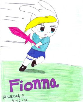 Fionna: ready for battle by IluvsFlippynya