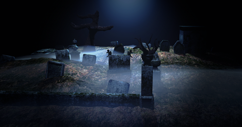 The Graveyard - 3D Render by WilliamModels