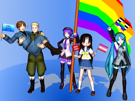 MMD Accessory Pack: Pride Flags by LearnMMD