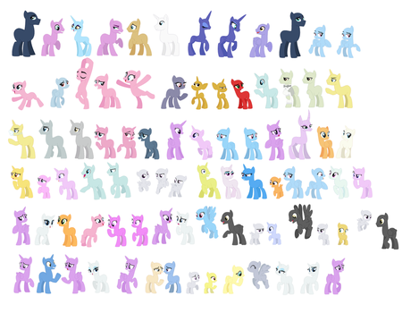 F2U Pony Bases by Strawberry-Spritz