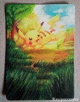 Pikachu Card by Rayquazanera