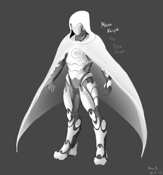 Moon Knight Concept Art by FotusKnight