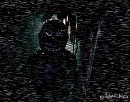 Bonnie in a FNAF3 Hallway by gold94chica