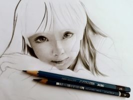 Drawing portrait - First time by YoungChanNguyen