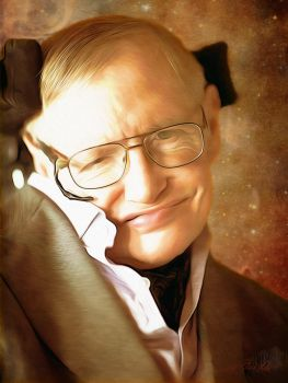 Stephen Hawking R.I.P. by PlaysWithWolves