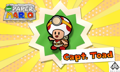 Captain Toad - Paper Mario Style by Nelde