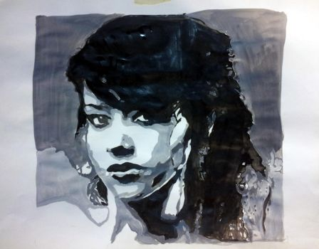 Portrait 4 color black and white by noxspot