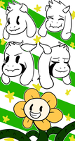 Flowey and Asriel Custom Box by sunny-dean